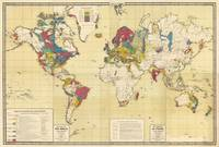Vintage Geological Map of The World (1875)