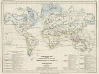 Vintage Map of the Worlds Mammals (1850)