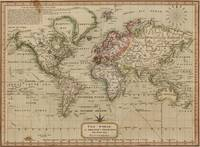 Vintage Map of The World (1814)