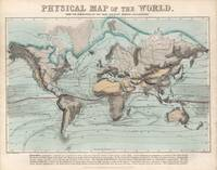 Vintage Physical Map of The World (1849)