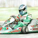 """Tony-Kart: Davide Fore 2006 World Karting Champion"" by Kart-Race-Art"