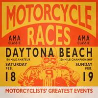 Motorcycle Races Daytona Beach Poster