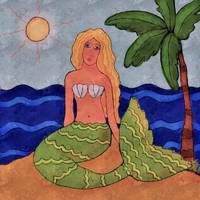 Mermaid and Palm Tree