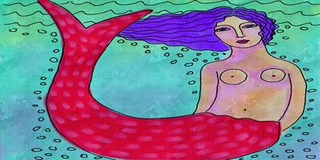 Mermaid with Red Tail
