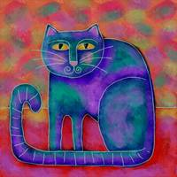 Funky Blue Cat