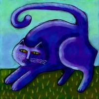 Funky Purple Cat