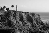 Lighthouse on Point Vicente cliff.