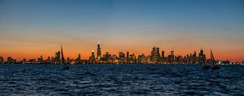 Chicago Sunset from the Water