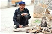 Woodcutter in Lijiang