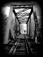 Railroad Bridge in Black and White