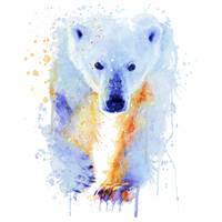Polar Bear Watercolor Painting