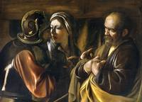 The Denial of Saint Peter by Caravaggio (1610)