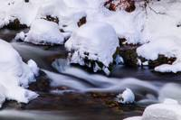 Winter Stream with Snowy Islands 2