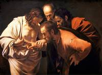 The Incredulity of Saint Thomas by Caravaggio (160