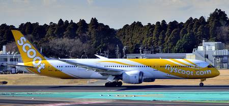 SCOOT B-787-9, 9V-OJF, TO Run