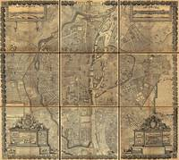 1652_Gomboust_9_Panel_Map_of_PaNine panel plan of