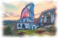 Laxey Wheel 2 watercolour