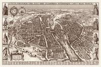 Map of the city of Paris by Claes Janszoon Vissche