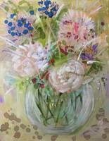 Impressionistic  Vase of Flowers