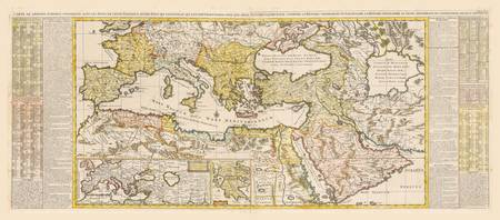 Ottoman Empire Map by Henri Chatelain (1719)