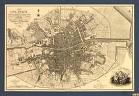 Map of Dublin City, Ireland by Samuel John Neele (