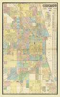 Map of Chicago, Illinois by J. Van Vechten (1863)