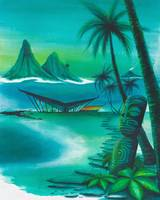 Dawn Tiki mag cover 24X30 canvas FINALsaveasjpg