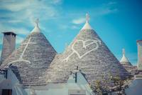 Close up of a conical roofs of a Trulli houses-2