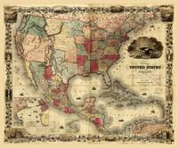 Map of the United States of America by G. Colton (