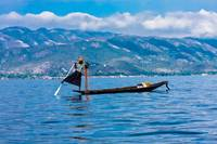 An intha fisherman on the Inle Lake, Myanmar