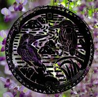 Manhole Covers of Japan: Kingfisher Water Wisteria