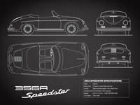 356A Speedster Blueprint Black