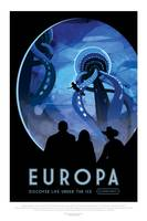 NASA Europa Space Travel Poster