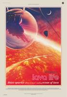 NASA Lava Life Space Travel Poster