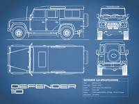 Defender 110 Blueprint