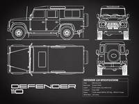 Defender 110 Blueprint Black