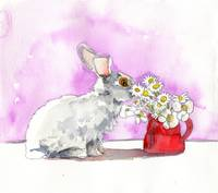 Rabbit Painting,