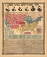 National Political Map of the United States (1856)