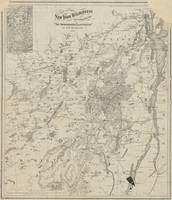 Vintage Map of The Adirondack Mountains (1874)