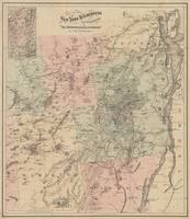 Vintage Map of The Adirondack Mountains (1879)