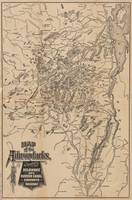Vintage Map of The Adirondack Mountains (1880) V.2