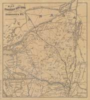 Vintage Adirondack Mountains Railroad Map (1895) V