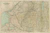 Vintage Adirondack Mountains Railroad Map (1895)