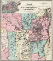 Vintage Map of The Adirondack Mountains (1879) 2