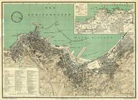 Vintage Map of Algiers Algeria (1912)