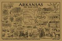 Vintage Map of Arkansas (1912) - Tan