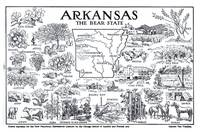 Vintage Map of Arkansas (1912)