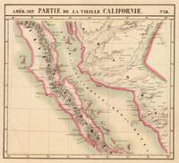 Vintage Map of Baja California (1827)