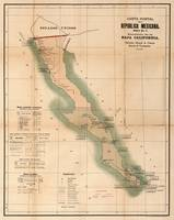 Vintage Baja California Postal Map (1904)