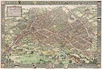 Vintage Pictorial Map of Birmingham England (1923)